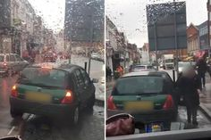Renault Clio owner takes SEVEN minutes and a staggering 18 attempts to park her tiny car in a massive parking space