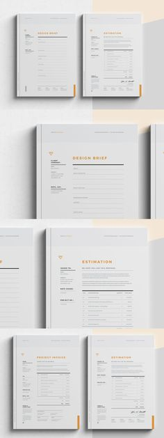 Corporate Design Brief - Estimation - Invoice Templates InDesign INDD Zucchini: A Power House of Nut Paper Design, Book Design, Layout Design, Print Design, Corporate Design, Business Design, Creative Business, Indesign Templates, Personal Identity
