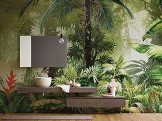 EQ•dekor by Inkiostro Bianco #jungle #bathroom #junglestyle #wallpaper
