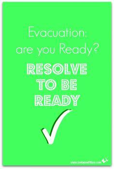 Evacuation: are you