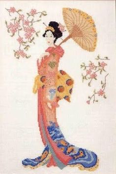 Free Geisha Cross Stitch Pattern