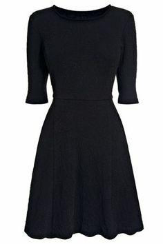 Buy Black Textured Flippy Dress from the Next UK online shop £26
