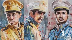 These amazing Heneral Luna watercolor paintings will make you proud Philippine Army, Philippines Culture, Animation Film, Filipino, Movies And Tv Shows, Watercolor Paintings, Movie Tv, Street Art, Pride