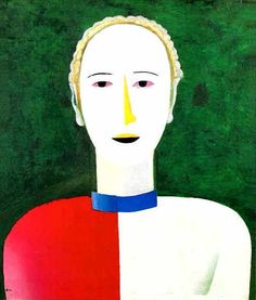 Kazimir Malevich - Portrait of a Female (1928-1932)
