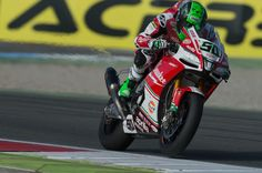 Eugene Laverty of Ireland and Milwaukee Aprilia heads down a straight during the FIM World Superbike Championship Assen - Race 1 on April 29, 2017 in Assen, Netherlands.