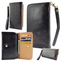 caseen Bella Women's Smartphone Wallet Clutch Wristlet Case (Black) for Apple iPhone 6 5S 5C 5 4S 4, Samsung Galaxy S5 S4 S3, Google Nexus 5, LG G2, HTC One M7, Sony Xperia Z E3 Z3 Compact, Moto X, Moto G, Droid Razr [Up to 5.75 x 3.1 Inch Cellphone] caseen http://www.amazon.com/dp/B00GXOROQU/ref=cm_sw_r_pi_dp_sBFnub1T88RWT