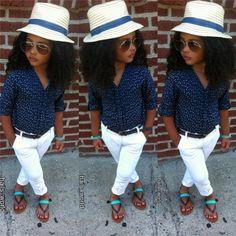 Basique pour mini-moi / petite fille / look Fashionista / Baby girl / perfect outfit / Hat / chapeau  hails_world