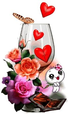 The perfect CopaDeCorazones Glass Wine Animated GIF for your conversation. Discover and Share the best GIFs on Tenor. Love Heart Images, I Love You Pictures, Gif Pictures, Love Heart Gif, Cute Love Gif, Beautiful Gif, Beautiful Roses, Birthday Greetings, Birthday Wishes