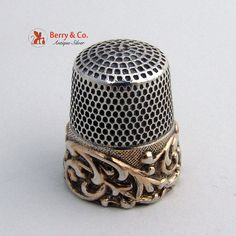 Vintage Thimbles Sterling Silver Embossed Scroll 1910 on Etsy, $35.00