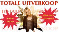 Totale uitverkoop dameskledij -- Sint-Michiels -- 18/10-21/10