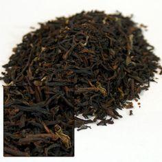 Darjeeling Dooteriah Estate 2nd Flush Black Tea. Prices range from $2.80 (1 o.) to 39.60 (1 lb). Picked between May and June, this second flush tea from the Dooteriah Estate has beautiful tippy, twisted, well-formed brown & black tea leaves. When brewed the resulting cup is bright amber with a delightful musk aroma and a taste that is sweet and floral with an oak-like finish.