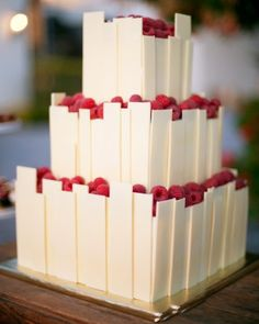 "See the ""Fresh Raspberry Cake"" in our Modern Wedding Cakes gallery"