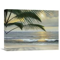 """Global Gallery 'Paradisio' by Diane Romanello Painting Print on Wrapped Canvas Size: 16"""" H x 20"""" W x 1.5"""" D"""
