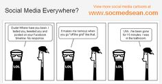 Do we really need our social media and mobile devices to be everywhere we go?    Thanks to Sean for letting us use one of his cartoons in our book for free (42 Rules of B2B Social Media Marketing).