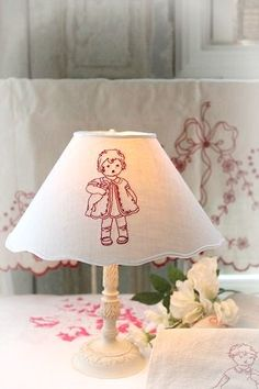 Embroidery Applique, Cross Stitch Embroidery, Embroidery Patterns, Little Ruby, Little Miss, Types Of Lighting, Vintage Lighting, Handmade Design, Lampshades
