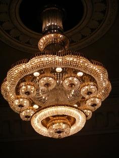 Opera House chandelier.