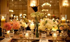 Gorgeous wedding reception. Candles make so much difference!  #weddingreception #candlereception #weddings