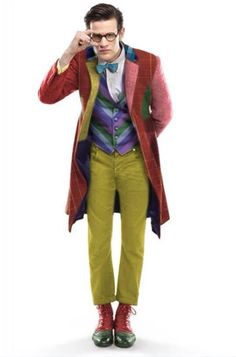 Matt Smith in Colin Baker's/The Sixth Doctors outfit.