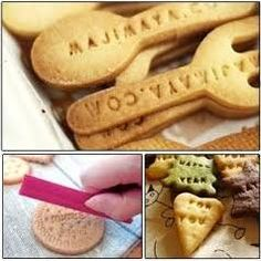 letter stamps use on cookies - Google Search