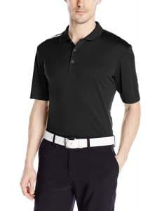 adidas Golf Men's Climacool Polo Shirt, Black/White, X-Large: Rib-knit collar. Climacool fabric at underarm for zonal breathability. Two-color branding on the right shoulder. Golf 7 R, Used Golf Clubs, Adidas Golf, Striped Polo Shirt, Strength Workout, Mens Golf, Golf Shoes, Mens Fitness, Stripes