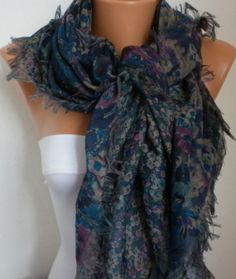 Double Side Scarf  Shawl     Free scarf  Multicolor  by anils, $16.00