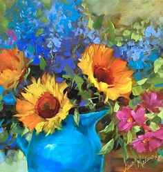 Painting Sonoma Sunflowers and You Know You're in California When... | Nancy Medina Art