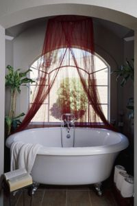 Turn your bathroom into a romantic Victorian sanctuary.