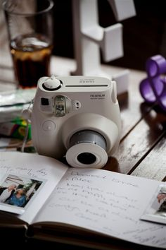Get an Instant Camera for your guest book!  Wedding by Monte-Carlo Weddings. Polaroid Wedding, Instant Camera, Polaroid Camera, Diy Party Decorations, Wedding 2015, Our Wedding, Monte Carlo, Wedding Guest Book, Fujifilm