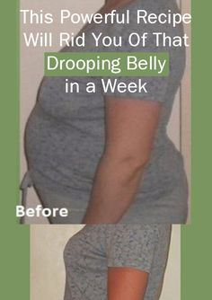 This Powerful Fat Burning Recipe Will Rid You Of That Drooping Belly in a Week