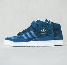 check out f6f03 8c09d adidas Originals Forum Mid  Navy Adidas Basketball Shoes, Nike Shoes Outlet,  Nike Free