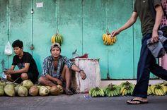 Myanmar turquoise banana