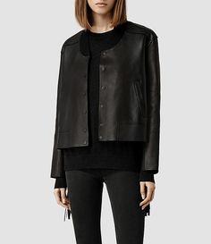 Tassel Leather Bomber Jacket