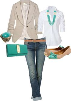 Beige and green