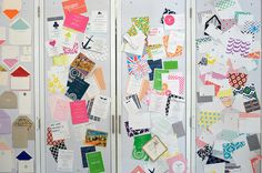 Adore this stationery wall at Dabney Lee's studio. (Photography: Carol Dronsfield)