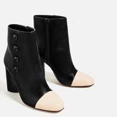 Image 3 of BUTTON DETAIL HIGH HEEL ANKLE BOOTS from Zara