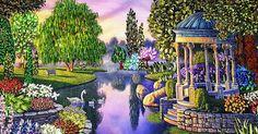 Meko Gelashvili, appassionata di arte e di ricamo, dipinge divinamente con Ago e Filo