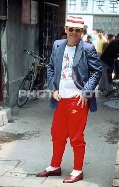 Elton John Watford in China 1982