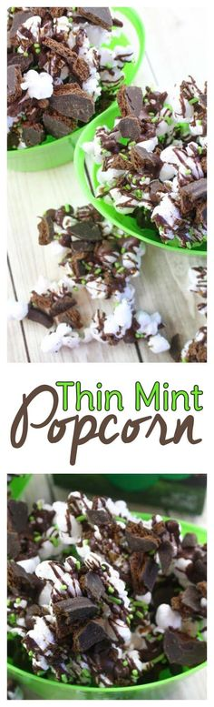 Looking for a leftover Girl Scout cookie recipe? If you're in need of recipes using thin mint cookies, you'll love this Thin Mint Popcorn Recipe! #girlscoutcookies #thinmints #popcorn