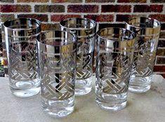 Vintage COUROC Gold Road Runner Bird Whiskey Glass Tumbler Mid-Century Barware