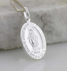 The Miraculous Necklace  Sterling Silver Holy by theangelfaith