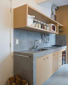 The Best Interior Design Of A Wooden Kitchen 30 - decortip Loft Kitchen, Kitchen Room Design, Kitchen Sets, Home Decor Kitchen, Kitchen Furniture, Home Kitchens, Kitchen Designs, Small Kitchen Interiors, Dirty Kitchen Ideas