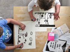 Making of loomiprint kids- Pintando - beim malen
