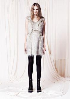 Garth Cook Wraith Faux Fur Dress