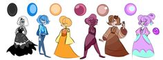 Pearl Squad by Aaron-Goforth on DeviantArt Perla Steven Universe, Steven Universe Diamond, Universe Images, Universe Art, Step By Step Drawing, Character Design Inspiration, Fantasy Characters, Drawing Reference, Cool Art
