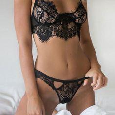 Feitong Women Sexy Bralette Bustier Crop Tops Hollow Lace Translucent Underwear Sheer Frenum Strap Lingerie Bra Camis Vest Suit
