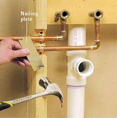 Supply lines are a vital part of your home. Understand how they work with this copper supply line installation tutorial. Pex Plumbing, Plumbing Drains, Bathroom Plumbing, Bathroom Fixtures, Wet Room Bathroom, Home Building Tips, Plumbing Installation, Home Fix, Diy Home Repair