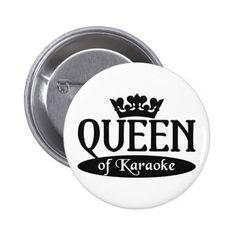 Queen of Karaoke button
