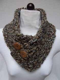 Fashion Accessory Autumn Knitted Cowl Scarflette by NinisNiche, $33.00