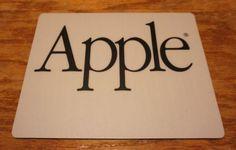 Vintage-APPLE-COMPUTER-MOUSEPAD-mouse-mac-macintosh-II-imac-logo-pad $23 mint condition never used 1/16