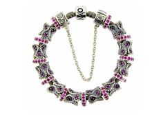 Moress Stackable Pink Stone Charm Bracelet Pink Stone, Charm Bracelets, Pretty In Pink, Crochet Necklace, Cuffs, Pandora, Gems, Charmed, Jewellery